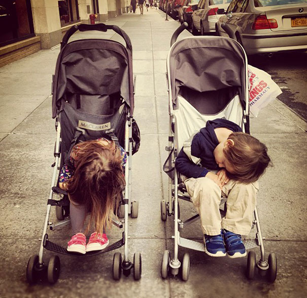 Napping In A Stroller