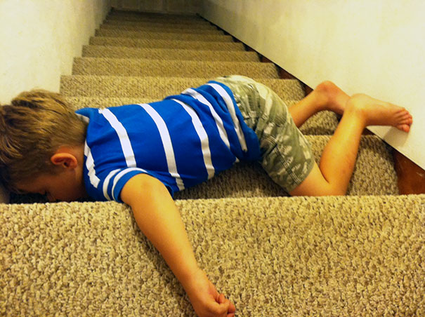 Napping On The Stairs