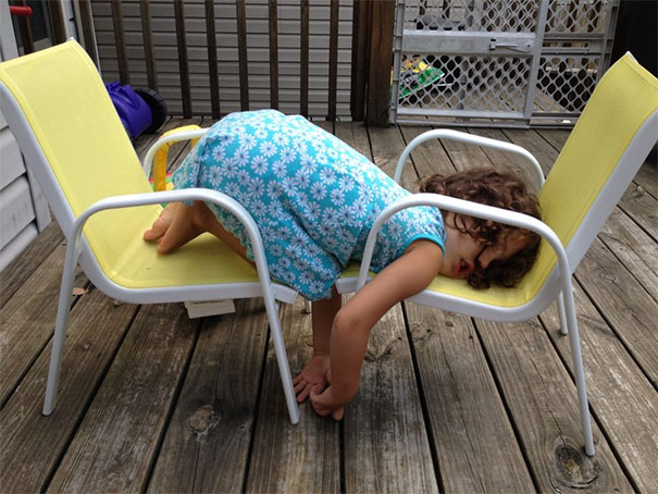 Napping On Two Chairs
