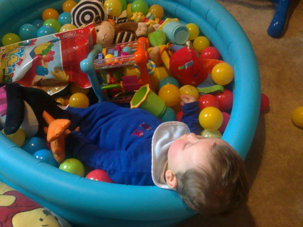 Napping In The Balls Pool