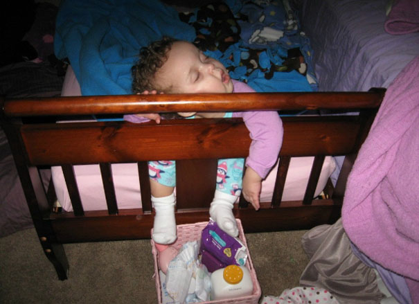 Napping By The Footboard
