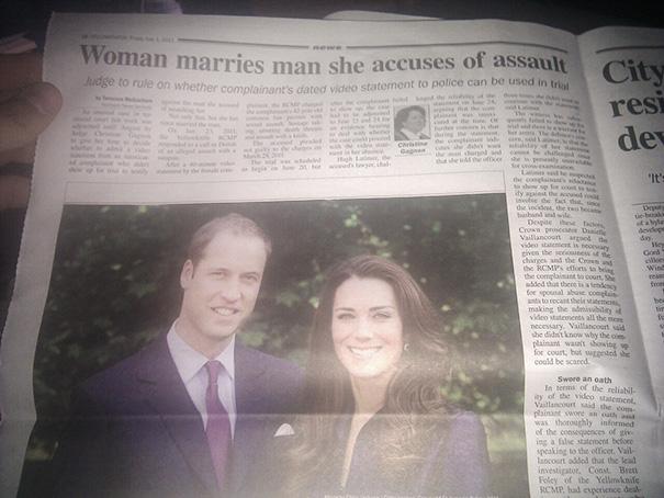 My Hometown Newspaper Had An Amusing Juxtaposition