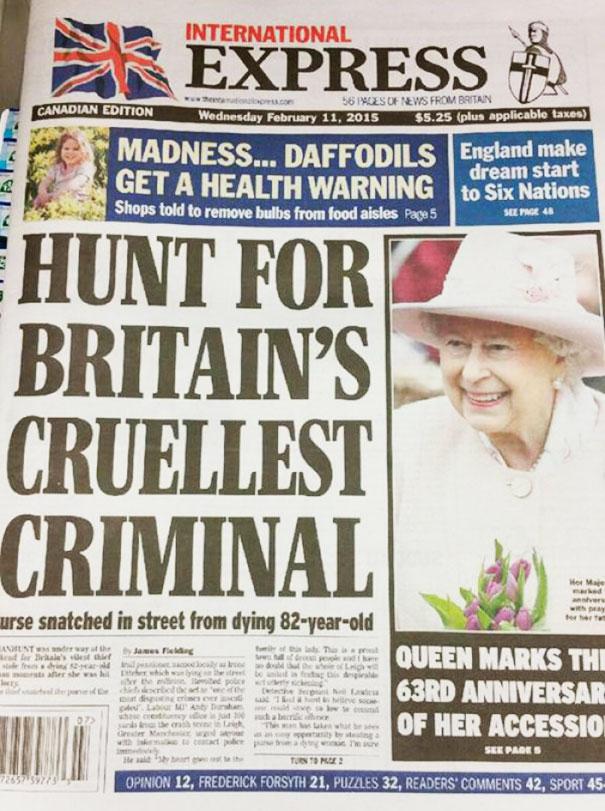 Queen Is Britain's Worst Purse Snatcher