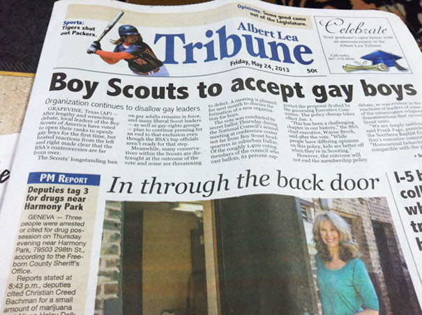 This Was In The News Paper Yesterday