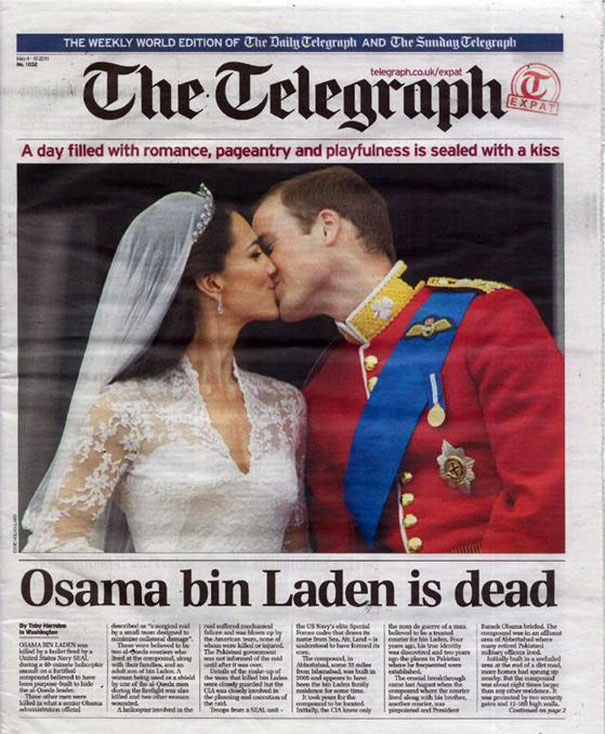 The Telegraph Kisses Bin Laden Goodbye
