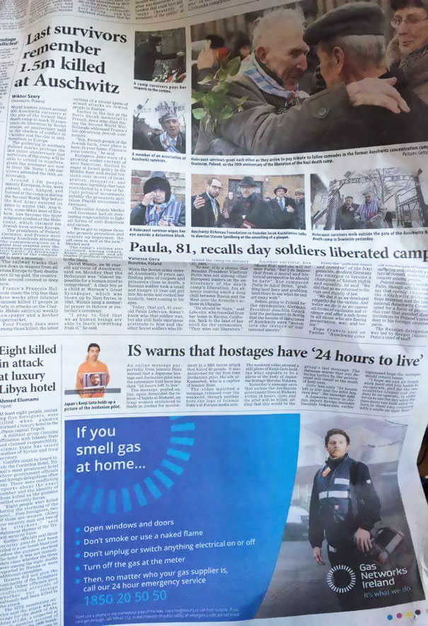 Ad Placement Fail In The Irish Times