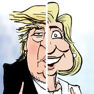 The Difference Between Trump And Clinton Summed Up In One Cartoon