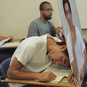 Guy Finds A Clever Way To Avoid Getting Caught Sleeping In Class