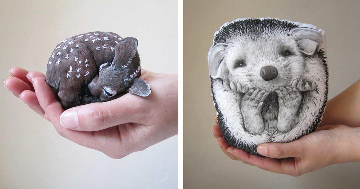 I Create Animal Pillows For People Who Love Nature, Dreams And Fairy Tales