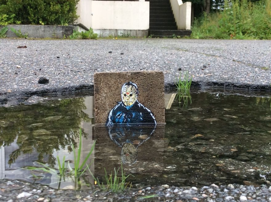 Voorhees Painted On Found Stone