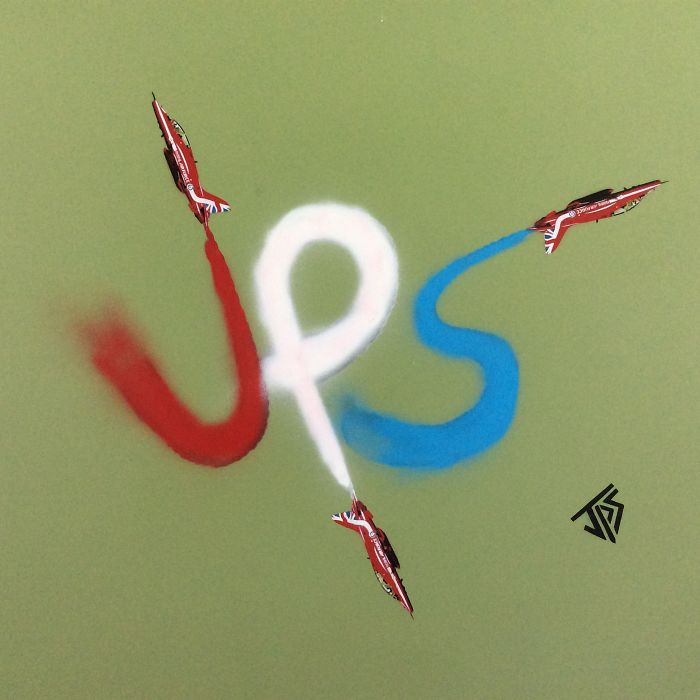 Red Arrows Piece Depicting My Initials Jps