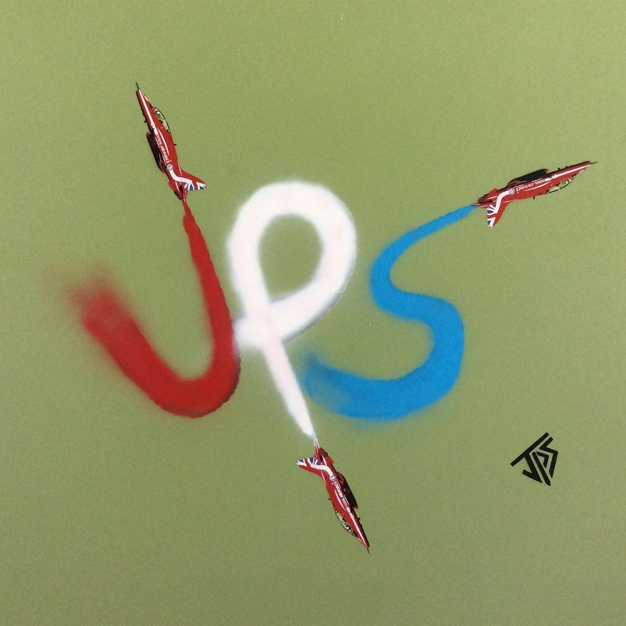 Red Arrows Piece Depicting My Initials Jps