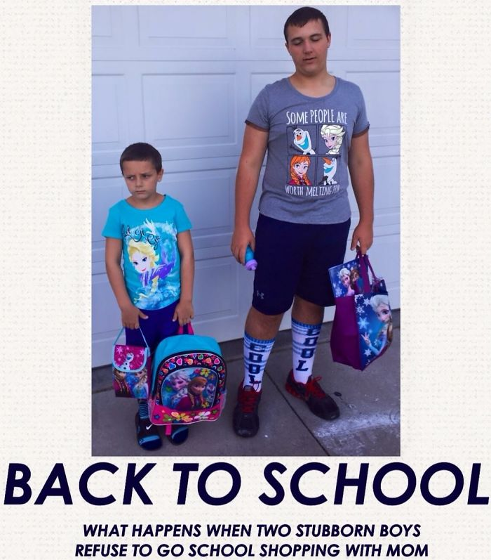 Guess Who Decided To Go School Shopping With Mom This Year?!