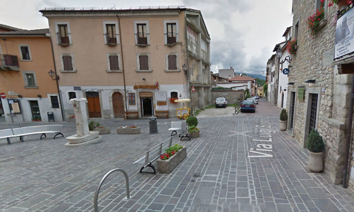 Square In The Centre Of Amatrice In The Province Of Lazio