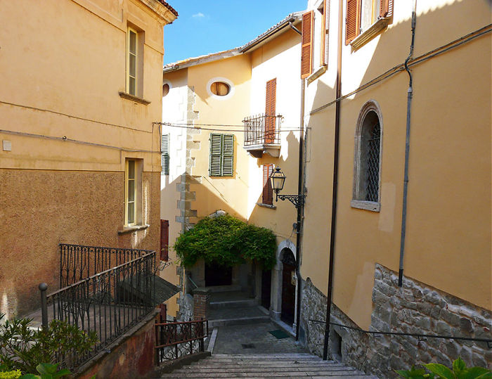 Stair Passage Between Houses In Arquata Del Tronto