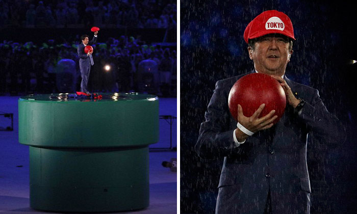 Japan's Prime Minister Dresses As Super Mario For Olympics Closing Ceremony As Preview For Tokyo 2020