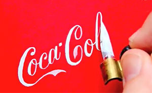 Seb Lester Recreates Famous Logos By Hand Using Calligraphy Pens