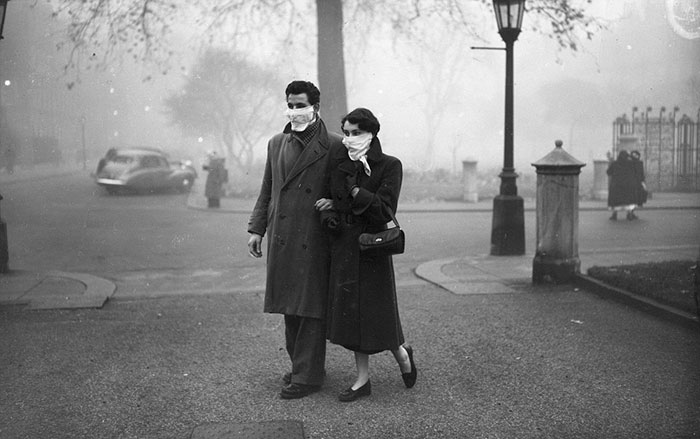 A Young Couple During The Great Smog, 1952