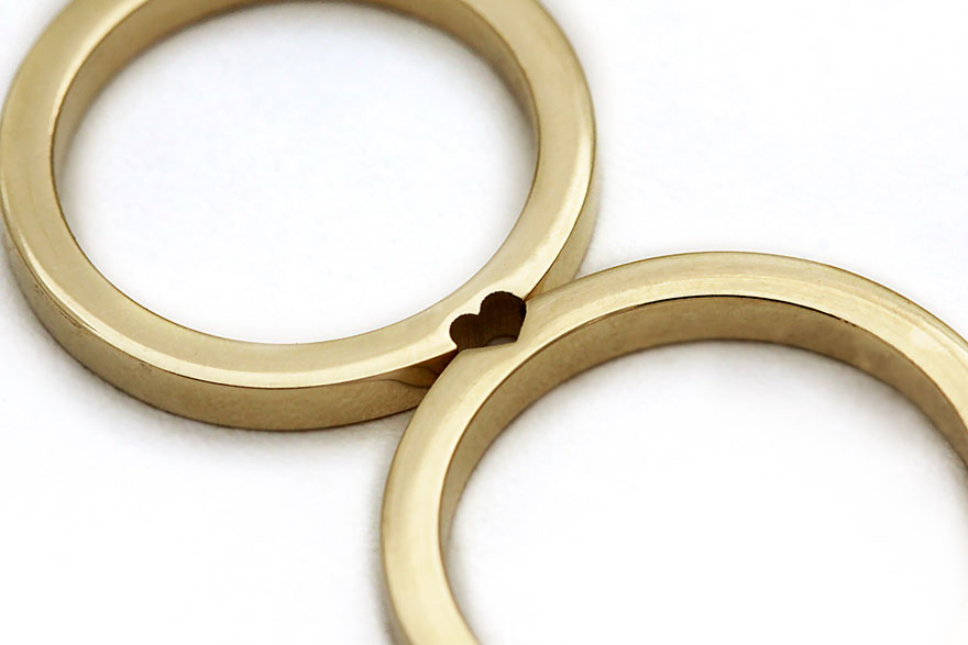 Matching Wedding Rings That Become One When Combined Bored Panda