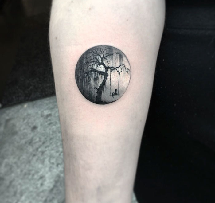 Miniature Circular Tattoo