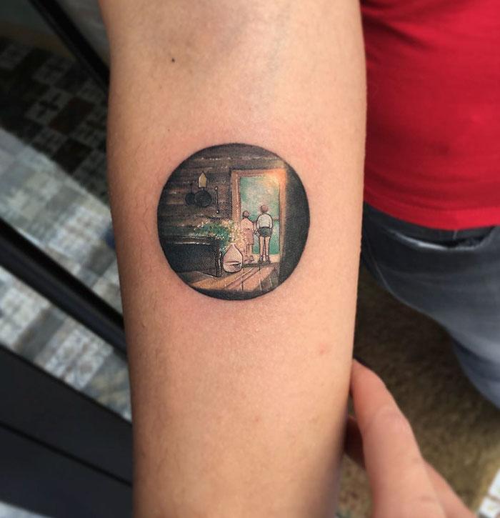 Miniature Circle Tattoos By Turkish Artist Eva Krbdk Bored