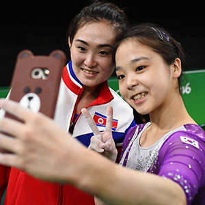 North And South Korean Olympic Gymnasts Just Took A Selfie Together And The Internet Is Going Crazy