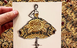 Fashion Illustrator Uses Clouds And Buildings To Complete His Dress Designs