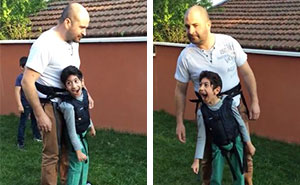 Father Takes His Paralyzed Son For A Walk And The Boy's Reaction Says It All
