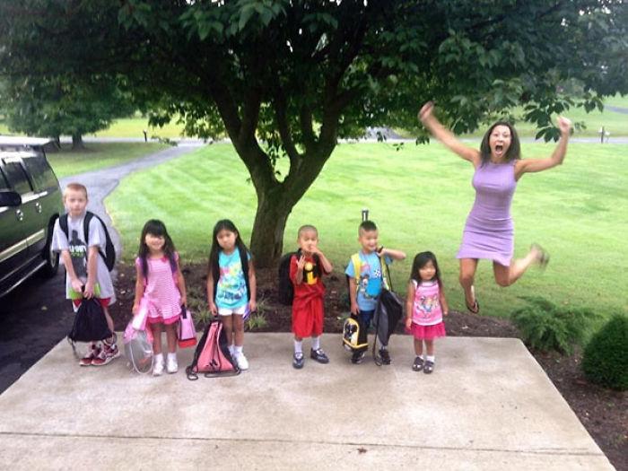 Meine Mutter und Ihre 6 adoptierten Kinder