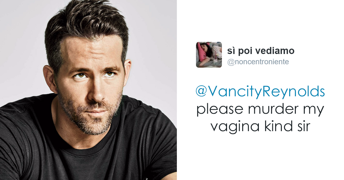 Ryan Reynold's Polite Responses To Horny Fans' Tweets Are ... Ryan Reynolds Twitter