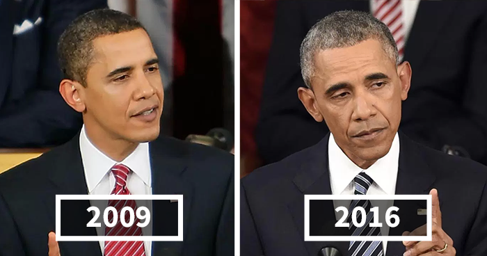 Side Effects Of Presidency Shown In Before And After Pictures Of 10 U.S. Presidents