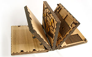 Puzzle Book With Pages That Must Be Solved to Unlock the Next