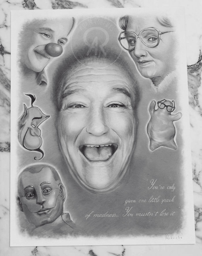 I Drew My Favourite Characters That Was Portrayed By Robin Williams