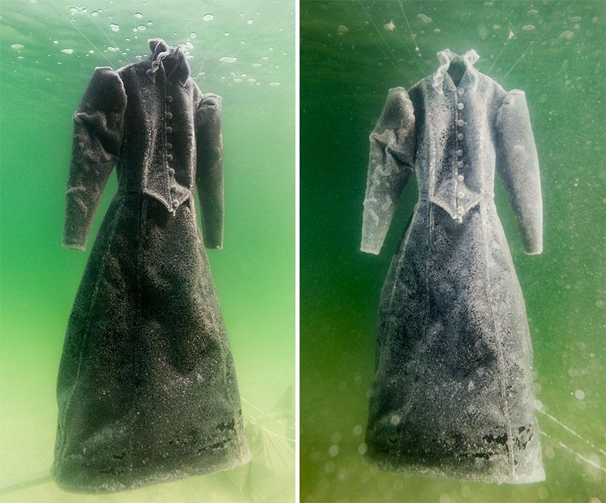 Black dress dead sea in jordan