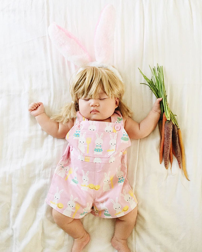 Sleeping Baby Has No Idea She Becomes The Star Of Cosplay