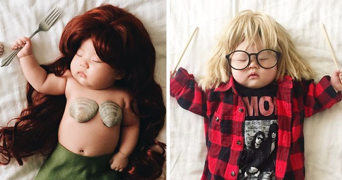 Sleeping Baby Has No Idea She Becomes The Star Of Cosplay During Her