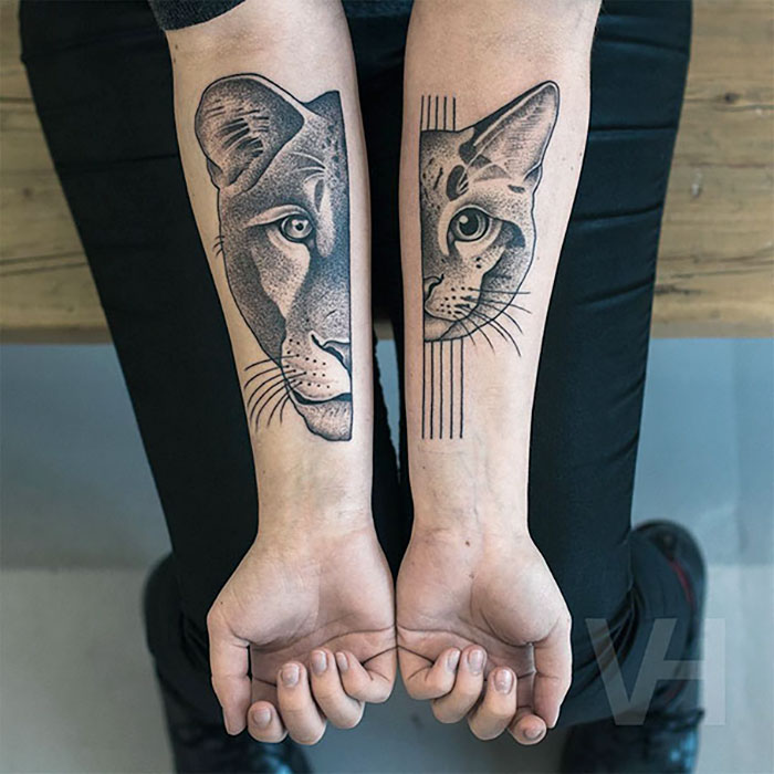 Symmetrical Tattoos By Valentin Hirsch Find Perfect Balance Between Nature And Geometry