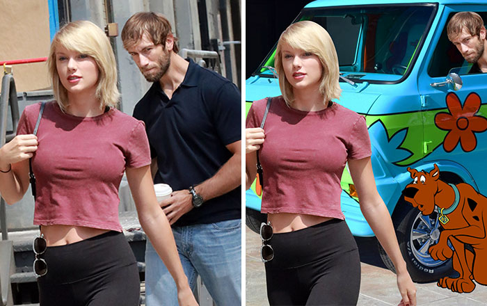 Guy Gets Caught Staring At Taylor Swift, The Internet Responds With Photoshop Battle