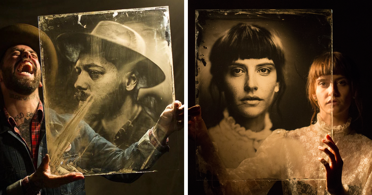 Photographer Uses 160-Year-Old Camera To Take Eerily Beautiful Portraits