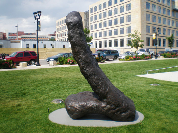 Gymnast III, Des Moines, Iowa. Penis Or Leaning Tower Of Turd, You Be The Judge
