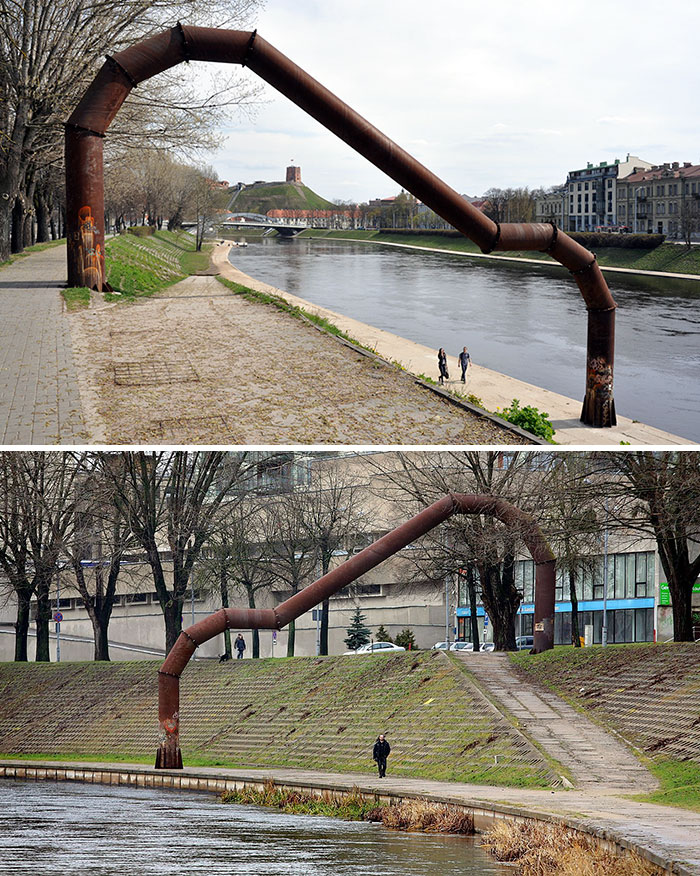 Embankment's Arch That Cost ~29,000 EUR, Vilnius, Lithuania. Everyone In Vilnius Calls This The Pipe