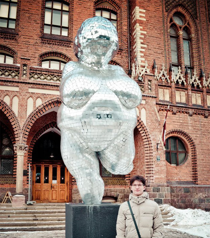 Venus Of Willendorf, Riga, Latvia. It's Not That It's Ugly, But It's Built In Front Of A Church-Like Building So It Looks Out Of Place There