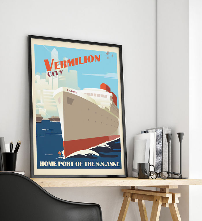 I Turn Things I Love Into Retro Travel Posters…