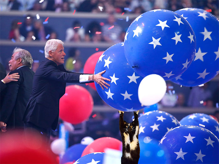At Democratic National Convention When Bill Took His Ball