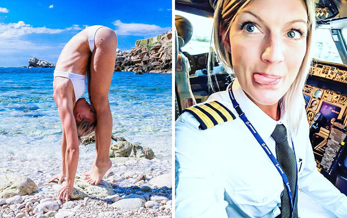 This Swedish Pilot Does Yoga Around The World And Her Selfies Are Taking Internet By Storm