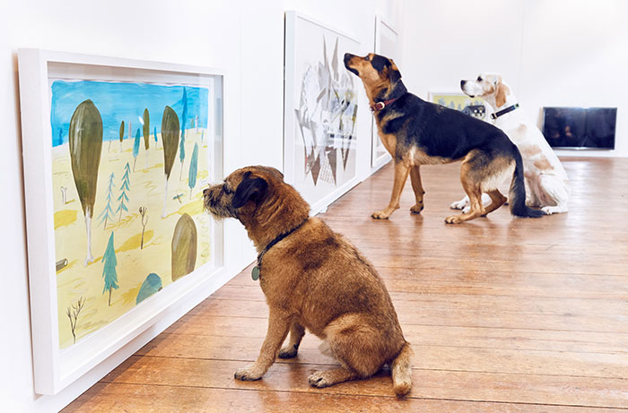 World's First Art Exhibition For Dogs