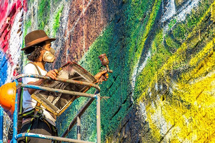 Brazilian Graffiti Artist Creates World's Largest Street Mural For The Rio Olympics