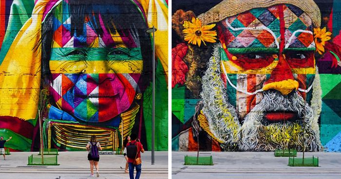 Brazilian Graffiti Artist Creates World's Largest Street