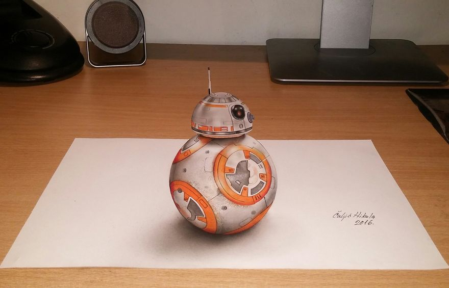 3d Bb-8 From Star Wars