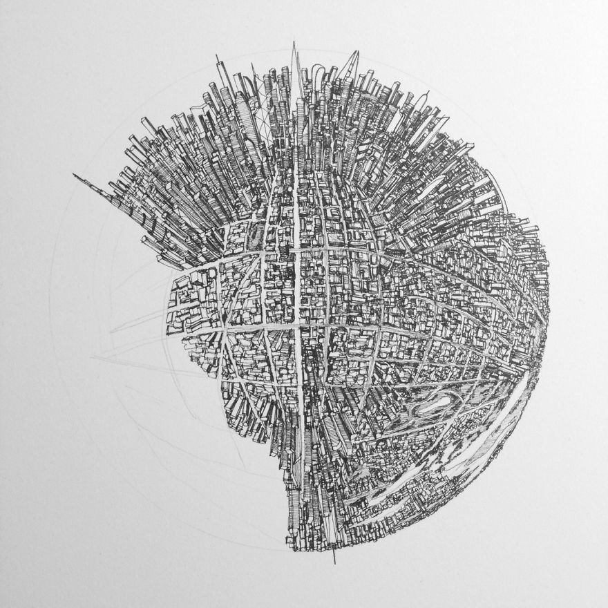 I Turn Cities I've Visited Into Death Stars